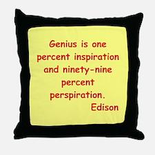 Thomas Edison quotes Throw Pillow