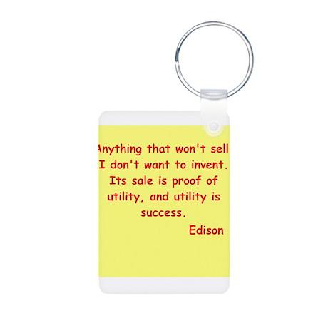 Thomas Edison quotes Aluminum Photo Keychain