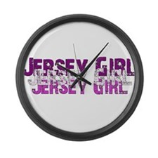Jersy Girl Large Wall Clock