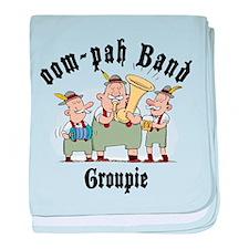 Oktoberfest oom-pah Band Groupie baby blanket