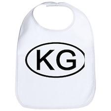 KG - Initial Oval Bib