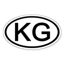 KG - Initial Oval Oval Decal