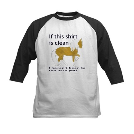 If This Shirt is CLEAN Kids Baseball Jersey