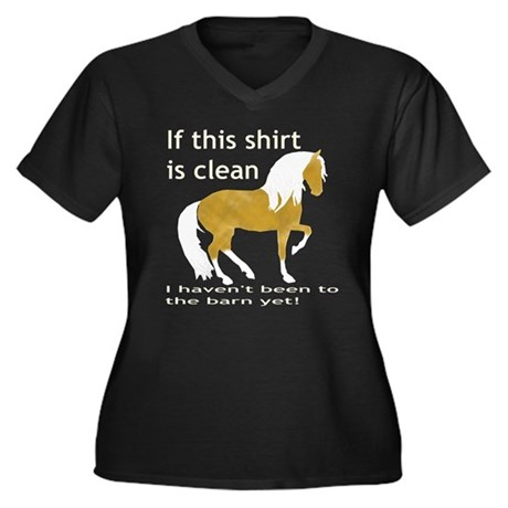 If This Shirt is CLEAN Women's Plus Size V-Neck Da