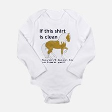 If This Shirt is CLEAN Long Sleeve Infant Bodysuit