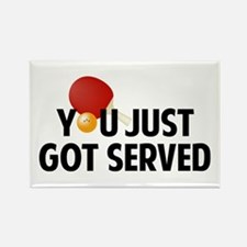 Got served - Table Tennis Rectangle Magnet