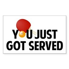 Got served - Table Tennis Decal