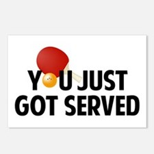 Got served - Table Tennis Postcards (Package of 8)