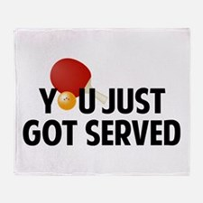 Got served - Table Tennis Throw Blanket