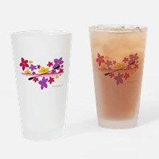Kayak Flower Power Drinking Glass