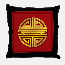 Chinese Longevity Sign Throw Pillow