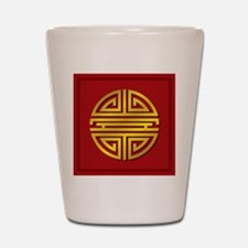 Chinese Longevity Sign Shot Glass