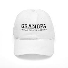 Grandpa The Man Myth Legend Baseball Baseball Cap