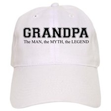 Grandpa The Man Myth Legend Baseball Cap