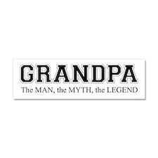 Grandpa The Man Myth Legend Car Magnet 10 X 3