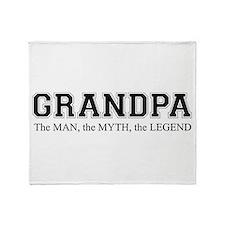 Grandpa The Man Myth Legend Throw Blanket