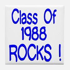 1988 Blue Tile Coaster