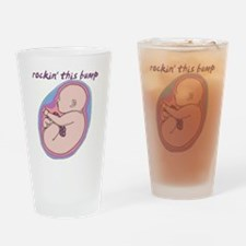 Cute Rock the bump Drinking Glass