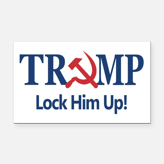 Lock Him Up Rectangle Car Magnet
