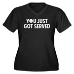 Got served - Baseball Women's Plus Size V-Neck Dar