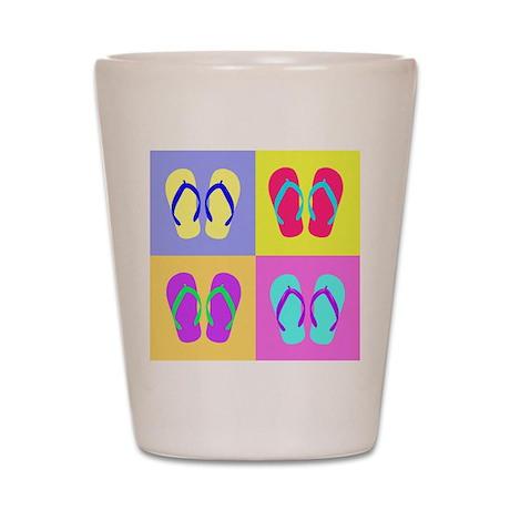 Colorful Flip-Flops Shot Glass