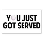 Got served - Baseball Sticker (Rectangle)