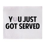 Got served - Baseball Throw Blanket