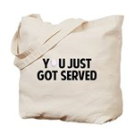 Got served - Baseball Tote Bag