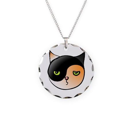 Ying Yang Yin Yang Cat Calico Necklace Circle Char