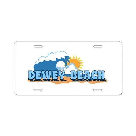 Dewey Beach DE - Waves Design Aluminum License Pla