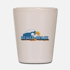 Dewey Beach DE - Waves Design Shot Glass