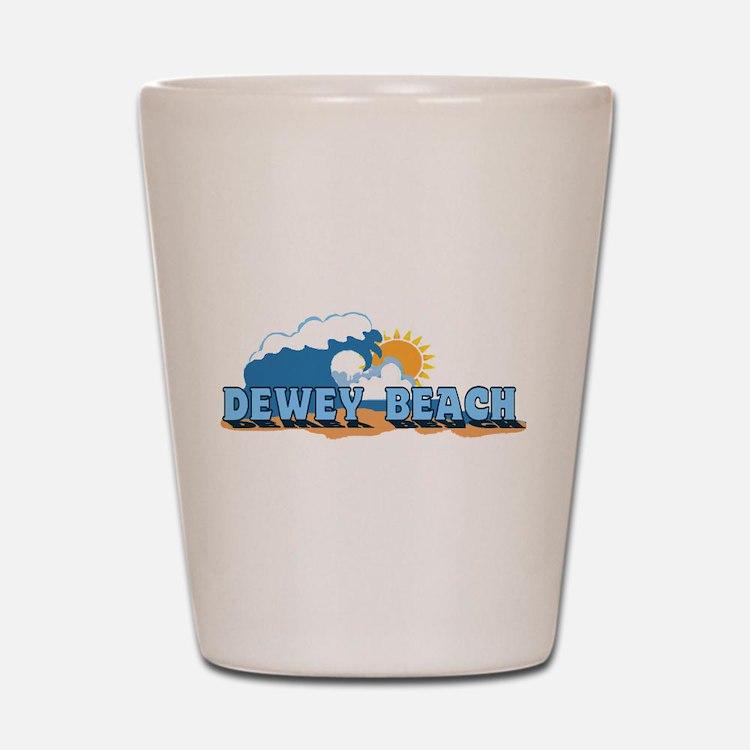 Dewey Beach DE - Waves Design Shot Glass