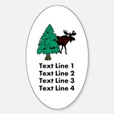 Personalized Moose Decal