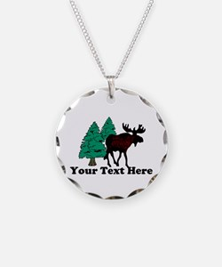 Personalized Moose Necklace