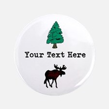 "Personalized Moose 3.5"" Button"