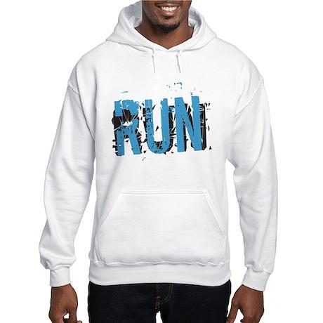 Grunge RUN Hooded Sweatshirt