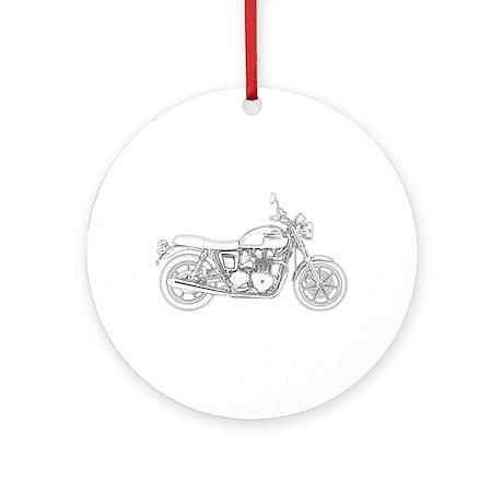 Vintage Triumph Motorcycle Ornament (Round)