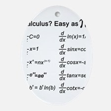 Math Ornament (Oval)