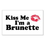 Kiss me I'm a brunette Rectangle Sticker