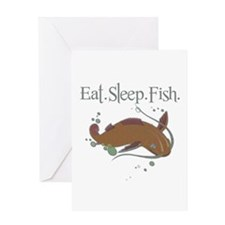 Eat.Sleep.Fish. Greeting Card