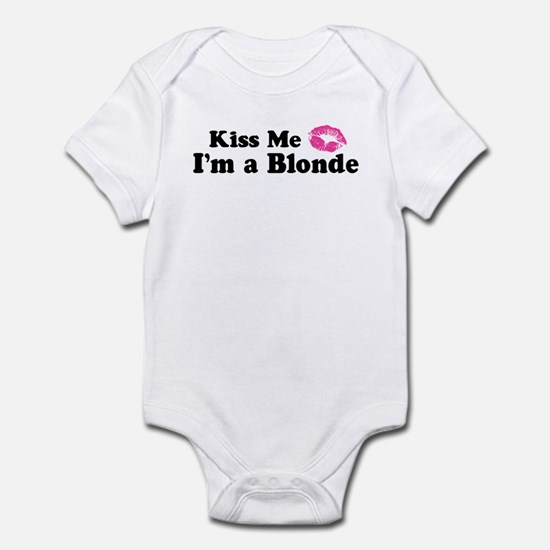 Kiss Me I'm a Blonde Infant Creeper