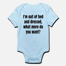 Out of Bed and Dressed Infant Bodysuit