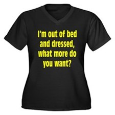 Out of Bed and Dressed Women's Plus Size V-Neck Da