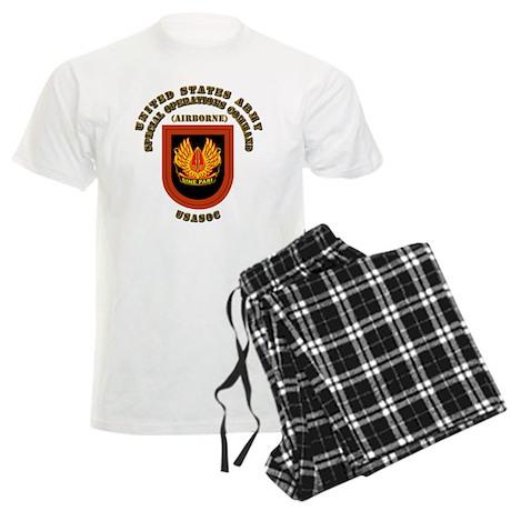 SOF - USASOC Flash with Text Men's Light Pajamas