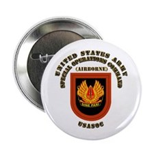 """SOF - USASOC Flash with Text 2.25"""" Button"""