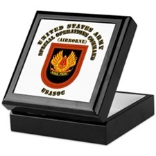 SOF - USASOC Flash with Text Keepsake Box
