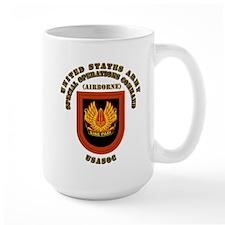 SOF - USASOC Flash with Text Mug