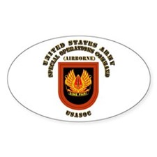 SOF - USASOC Flash with Text Decal