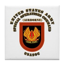 SOF - USASOC Flash with Text Tile Coaster