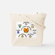 SOF - USASOC Flash with Text Tote Bag